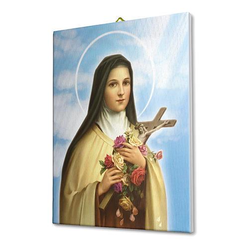 Quadro su tela pittorica Santa Teresa del Bambin Gesù 25x20 cm 4