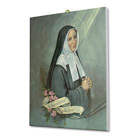 Quadro su tela pittorica Santa Bernadette 25x20 cm s2