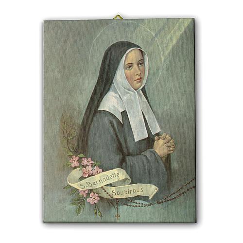 Quadro su tela pittorica Santa Bernadette 25x20 cm 1