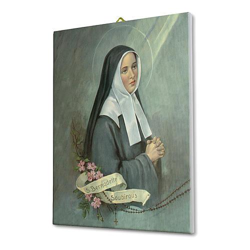 Quadro su tela pittorica Santa Bernadette 25x20 cm 2
