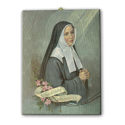 Quadro su tela pittorica Santa Bernadette 40x30 cm 1