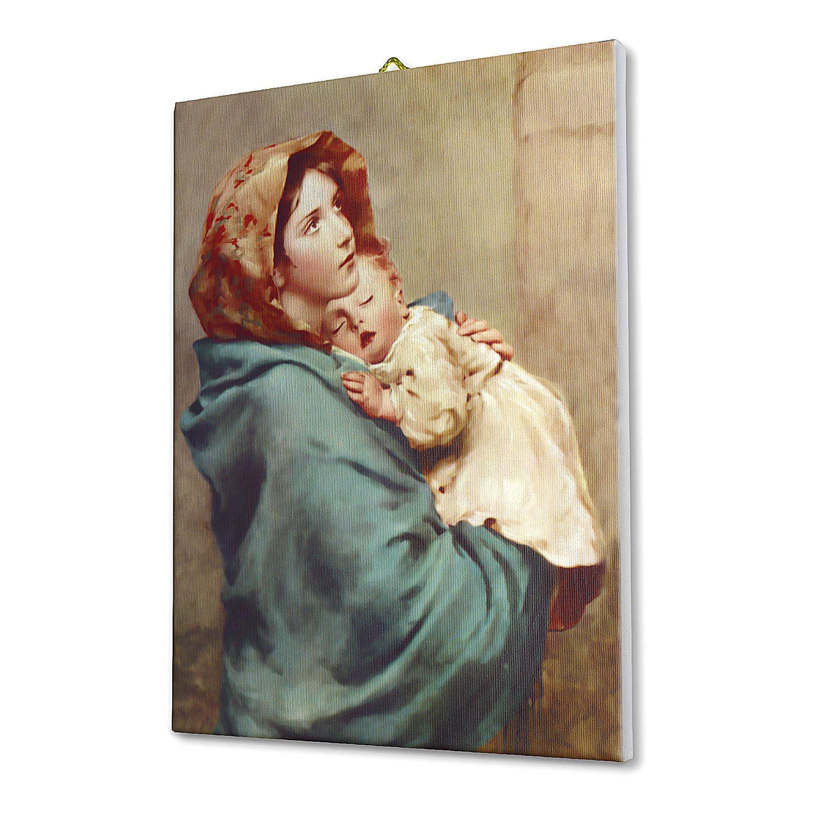 Quadro su tela pittorica Madonna del Ferruzzi 25x20 cm 3
