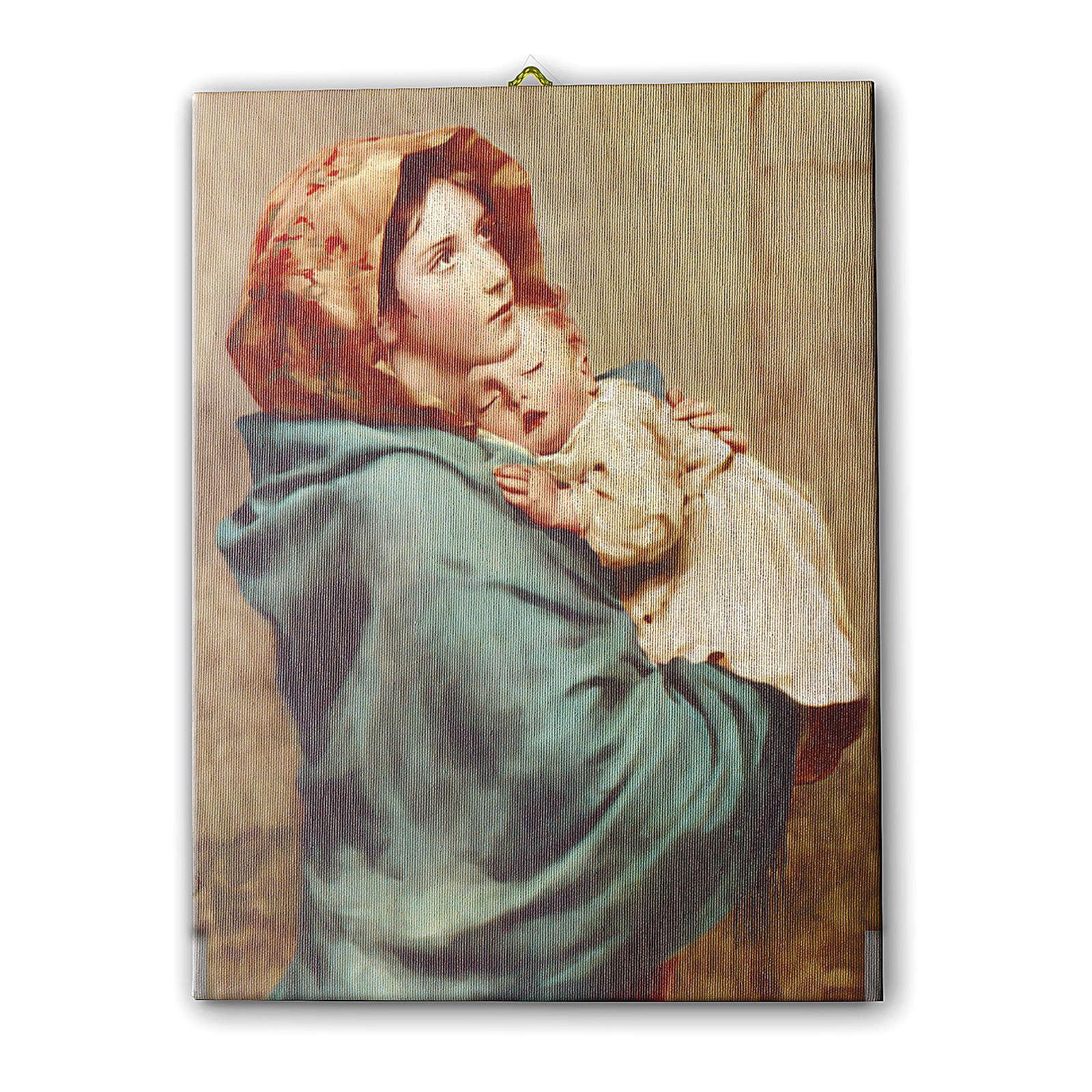 Cuadro sobre tela pictórica Virgen de Ferruzzi 40x30 cm 3