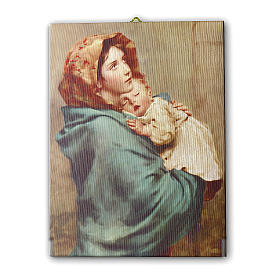 Cuadro sobre tela pictórica Virgen de Ferruzzi 40x30 cm s1
