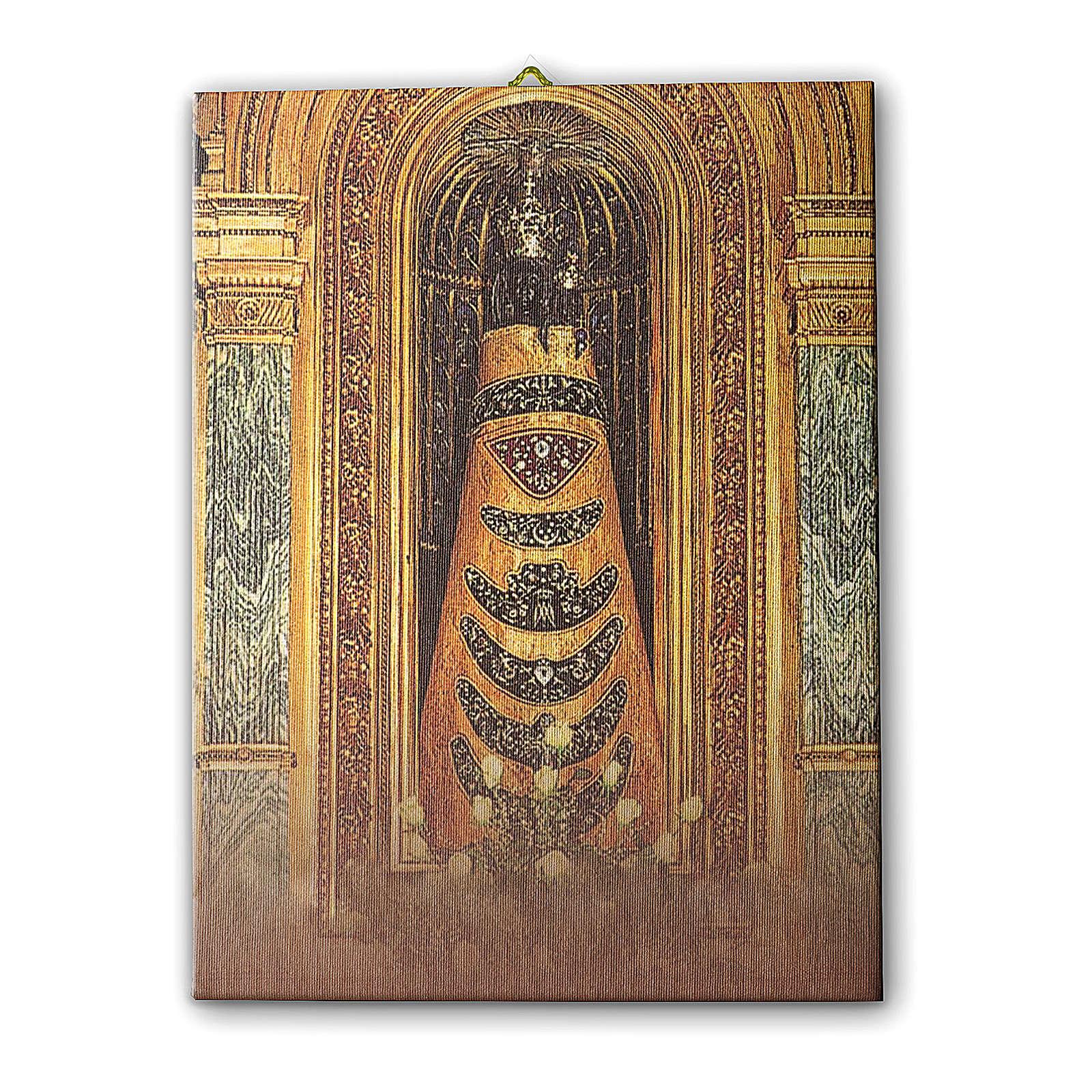 Quadro su tela pittorica Madonna di Loreto 25x20 cm 3
