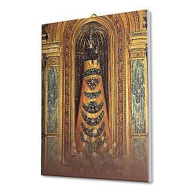 Quadro su tela pittorica Madonna di Loreto 25x20 cm s2