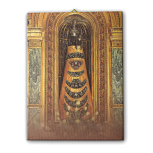 Quadro su tela pittorica Madonna di Loreto 25x20 cm 1