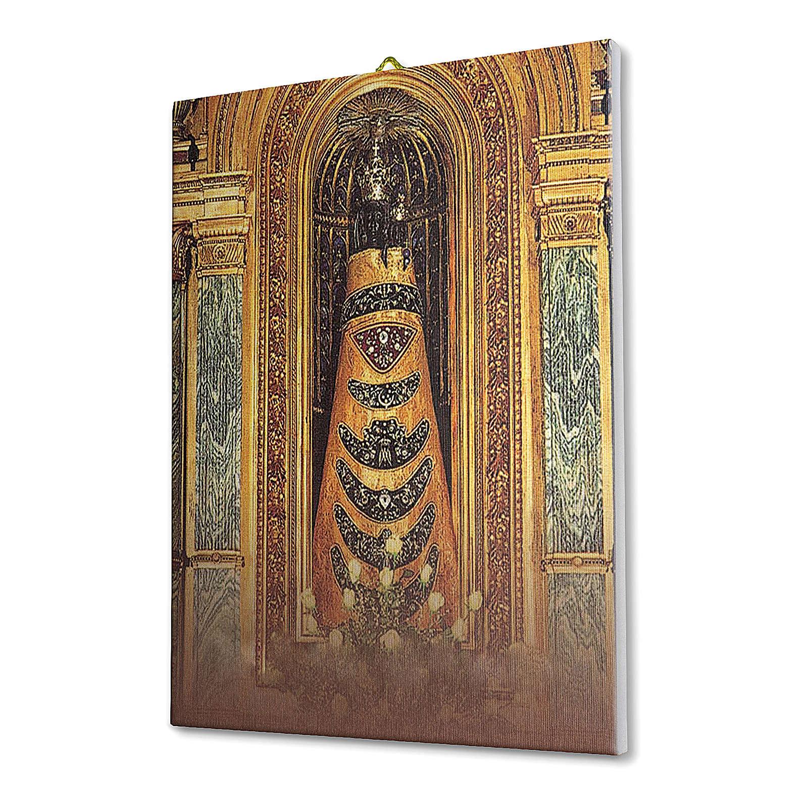 Quadro su tela pittorica Madonna di Loreto 40x30 cm 3