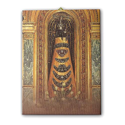 Quadro su tela pittorica Madonna di Loreto 40x30 cm 1