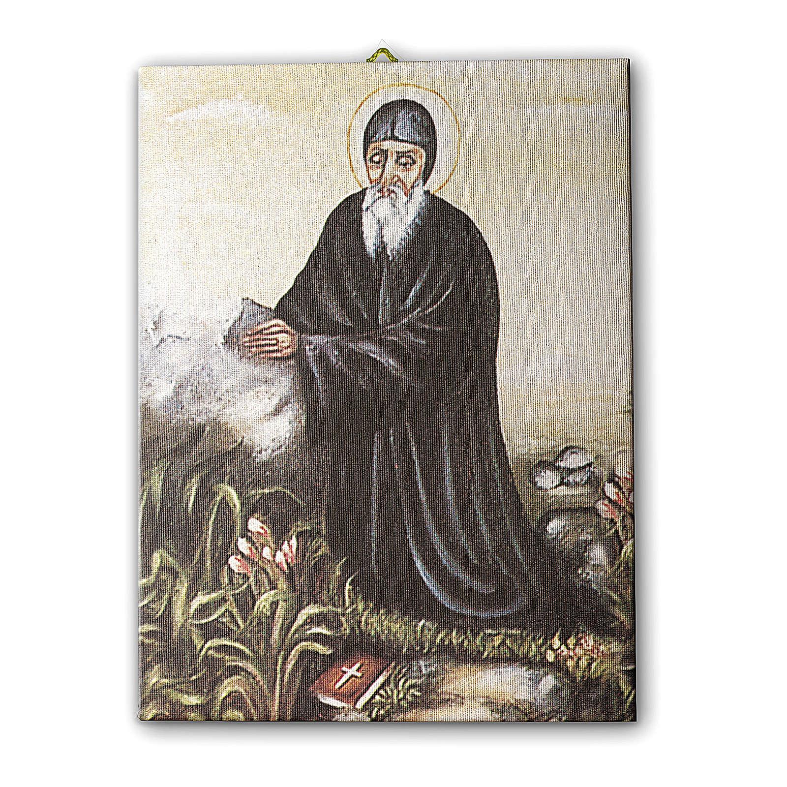 Quadro su tela pittorica San Charbel 70x50 cm 3