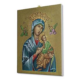 Quadro su tela pittorica Madonna del Perpetuo Soccorso 25x20 cm s2