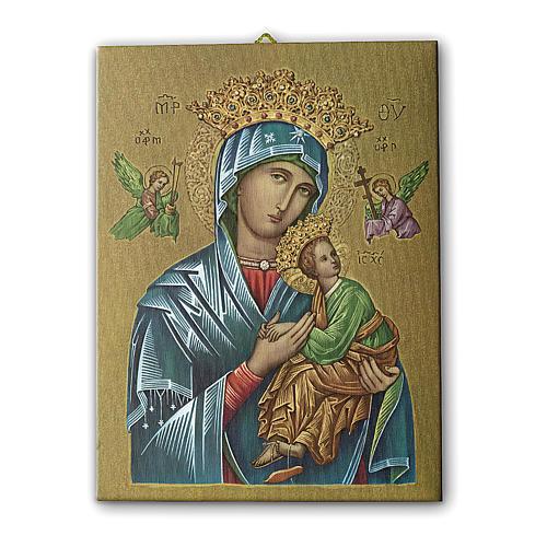 Quadro su tela pittorica Madonna del Perpetuo Soccorso 25x20 cm 1