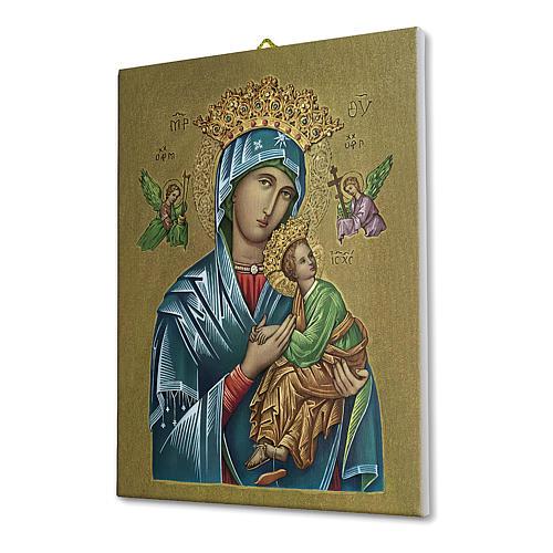 Quadro su tela pittorica Madonna del Perpetuo Soccorso 25x20 cm 2