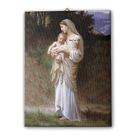 Quadro su tela pittorica Divina Innocenza di Bouguereau 25x20 cm s1