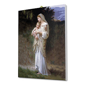 Quadro su tela pittorica Divina Innocenza di Bouguereau 25x20 cm s2