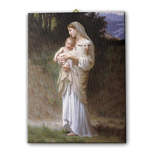 Quadro su tela pittorica Divina Innocenza di Bouguereau 25x20 cm 1