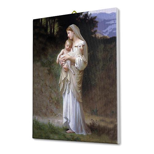Quadro su tela pittorica Divina Innocenza di Bouguereau 25x20 cm 2