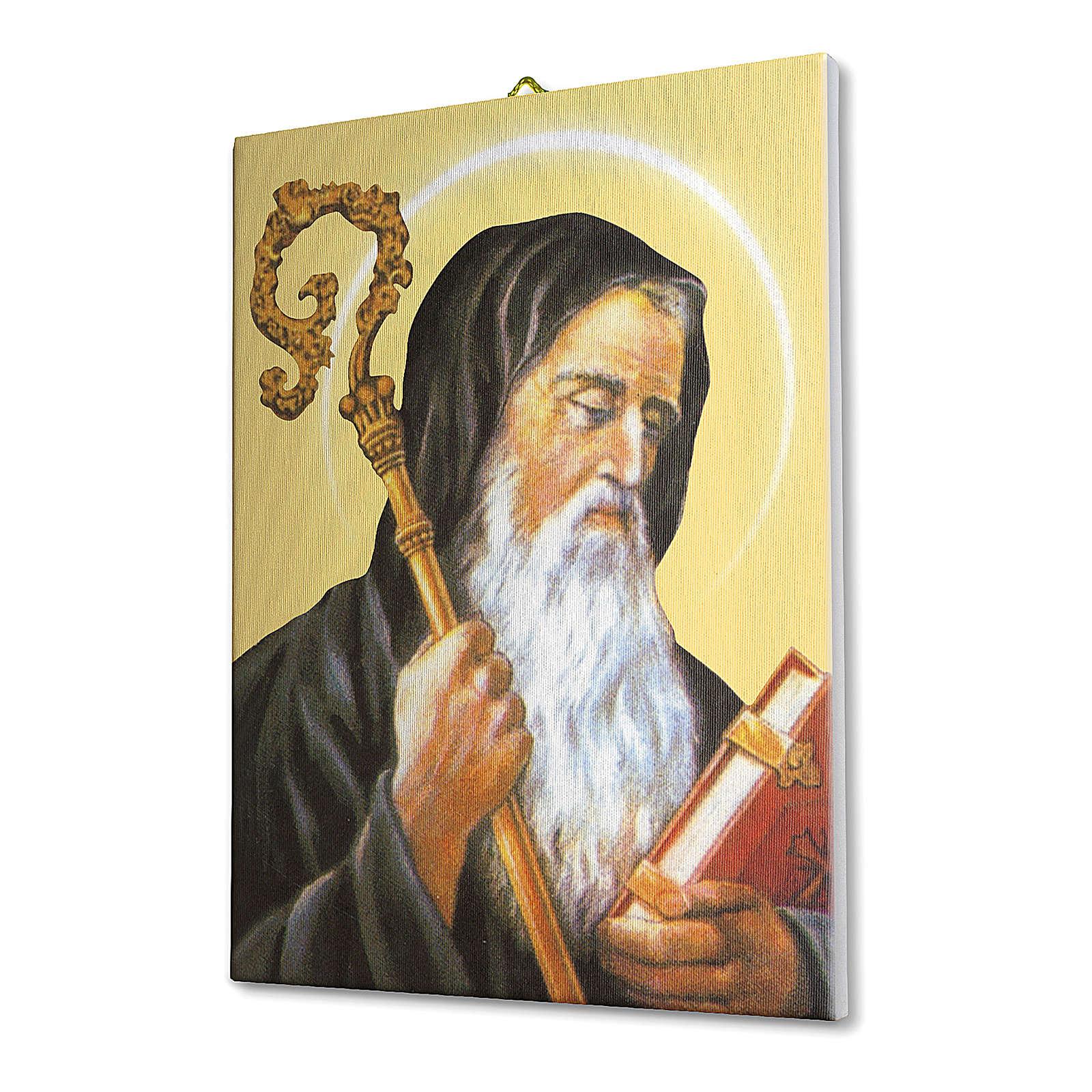 Quadro su tela pittorica San Benedetto 25x20 cm 3