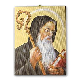 Quadro su tela pittorica San Benedetto 25x20 cm s1