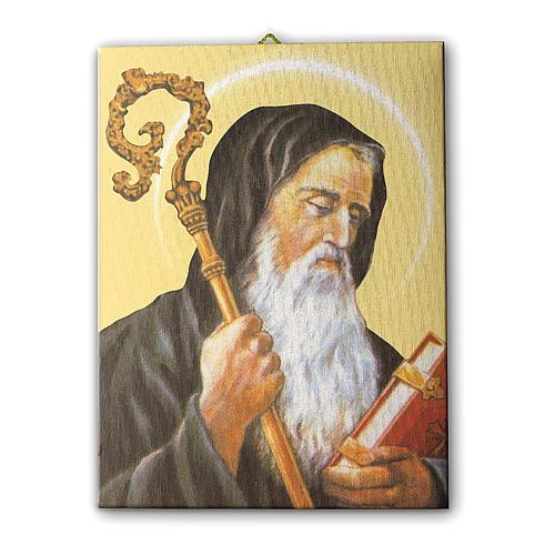 Quadro su tela pittorica San Benedetto 25x20 cm 1