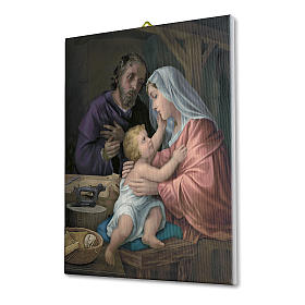 Quadro su tela pittorica Sacra Famiglia 70x50 cm s2