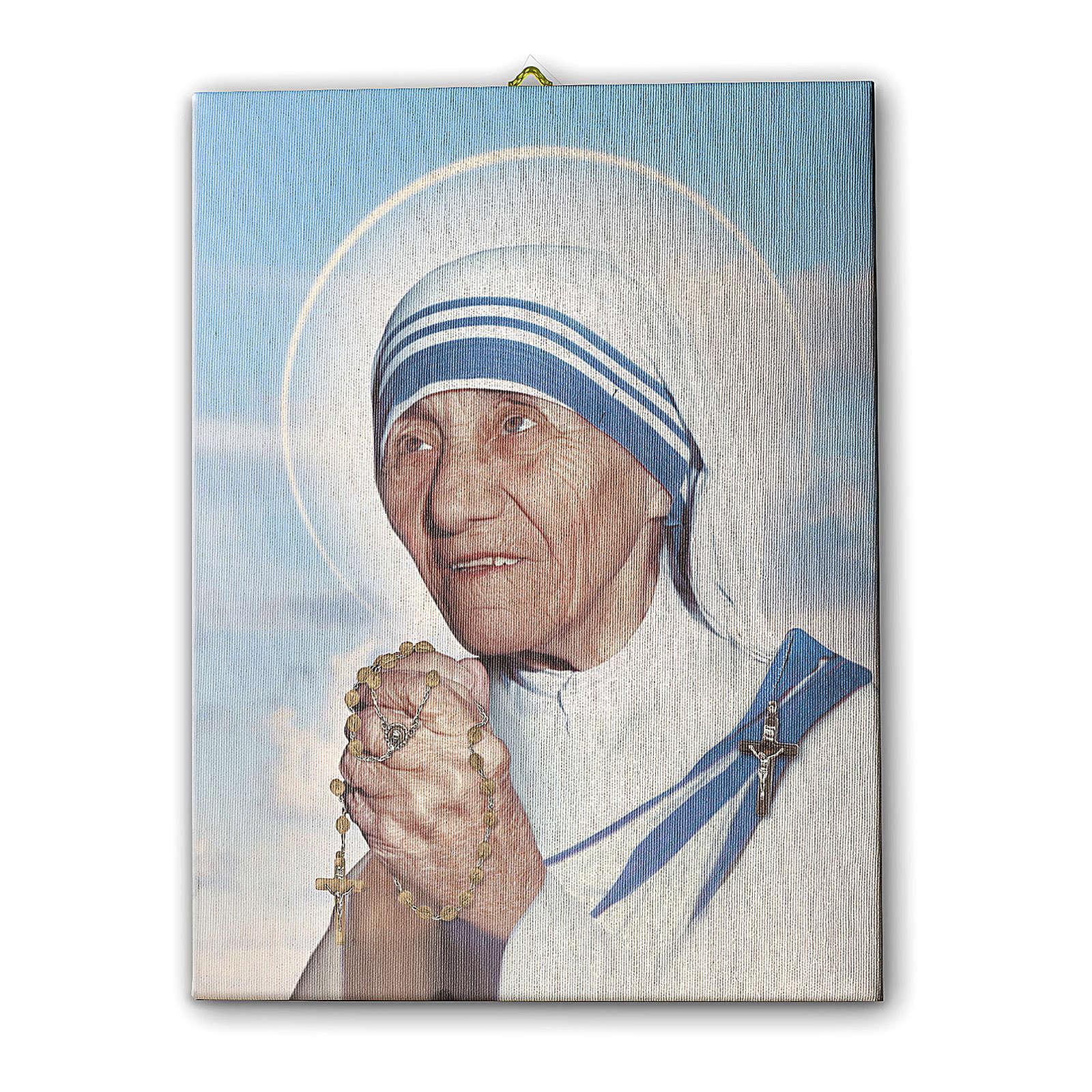 Quadro su tela pittorica Madre Teresa di Calcutta 25x20 cm 3