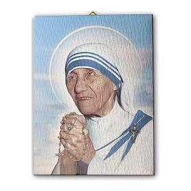 Quadro su tela pittorica Madre Teresa di Calcutta 25x20 cm s1