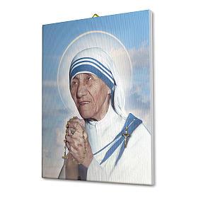 Quadro su tela pittorica Madre Teresa di Calcutta 25x20 cm s2