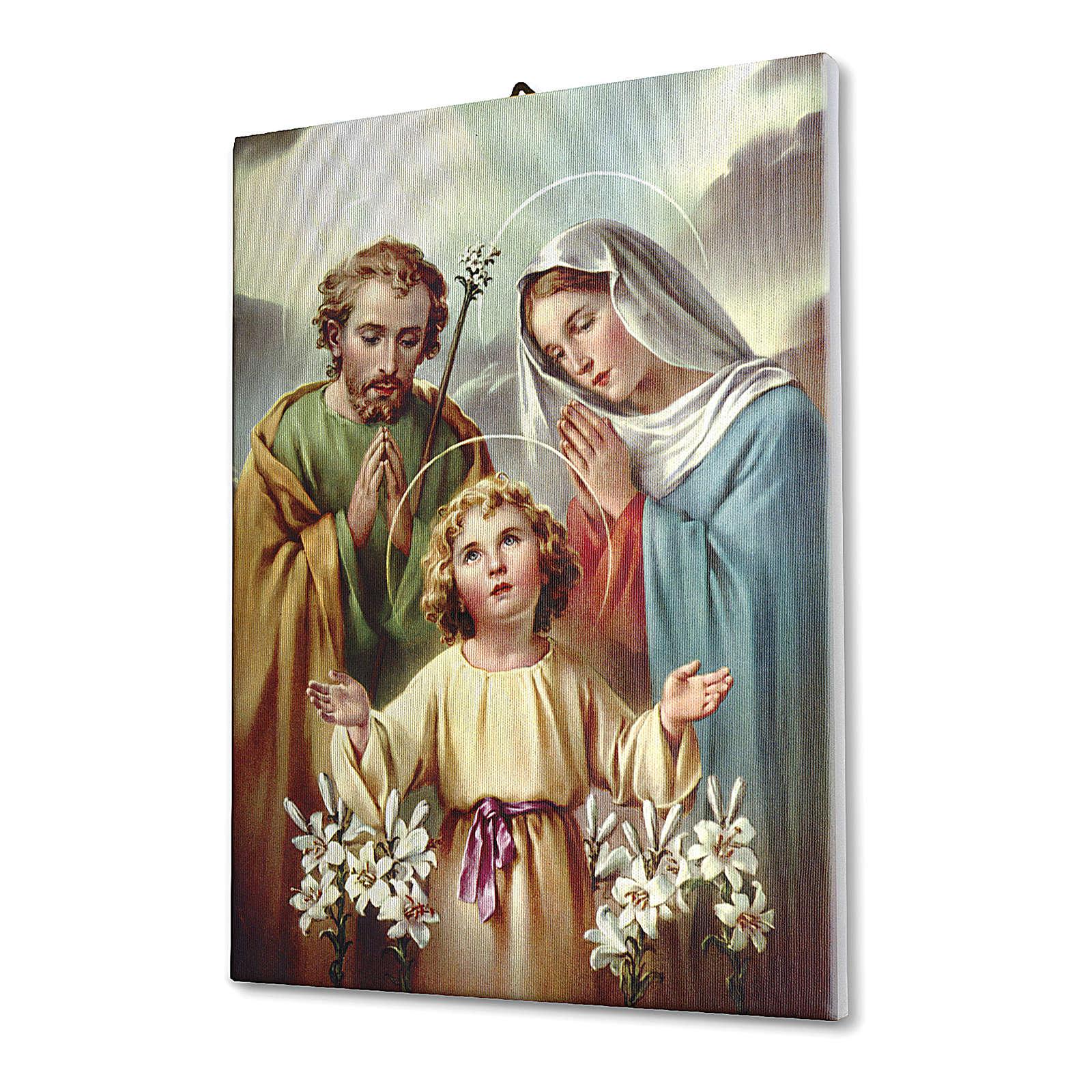 Cadre sur toile Sainte Famille avec lys 70x50 cm 3