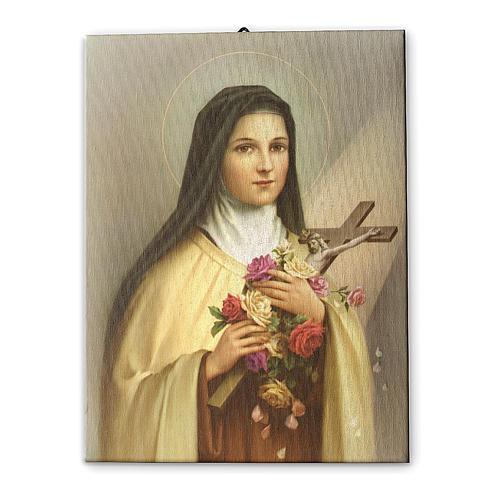 Quadro su tela pittorica Santa Teresa del Bambin Gesù 40x30 cm 1