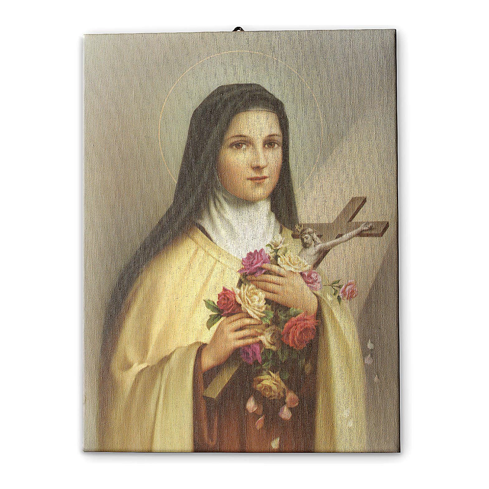 Cuadro sobre tela pictórica Santa Teresa del Niño Jesús 70x50 cm 3