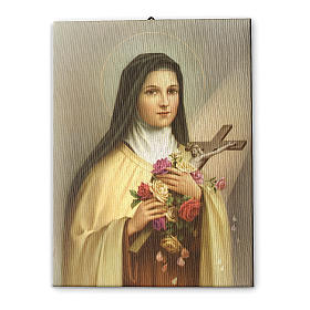 Cuadro sobre tela pictórica Santa Teresa del Niño Jesús 70x50 cm s1