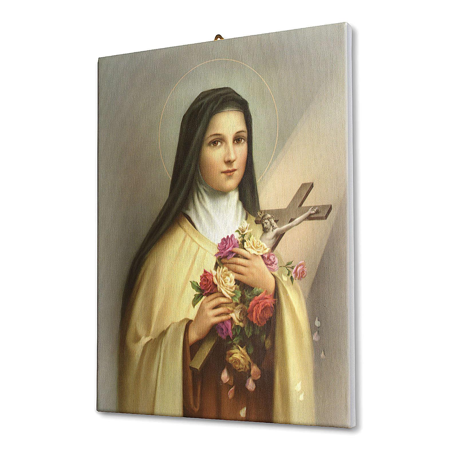 Tela pittorica quadro Santa Teresa del Bambin Gesù 70x50 cm 3