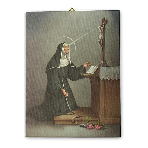Tela pittorica quadro Santa Rita da Cascia 40x30 cm 1