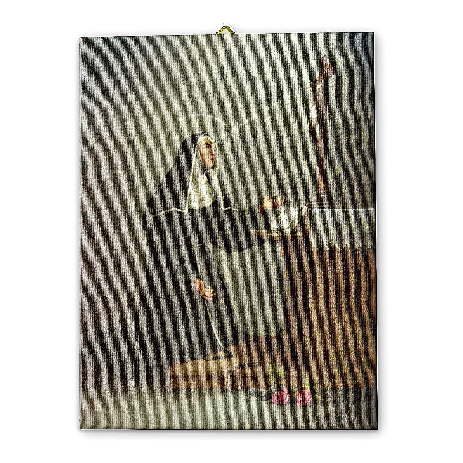 Saint Rita printed on canvas 40x30 cm 3