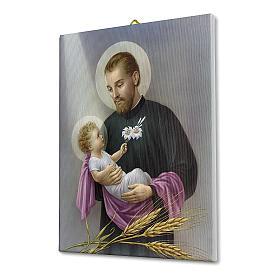 Quadro su tela pittorica San Gaetano 25x20 cm s2