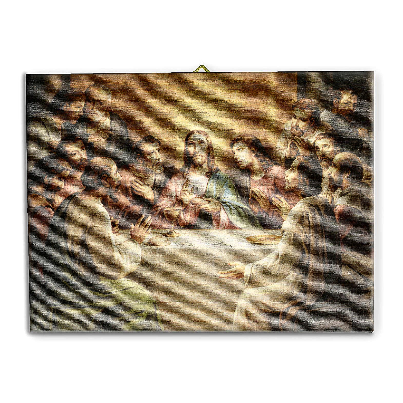 Last Supper canvas print 25x20 cm 3