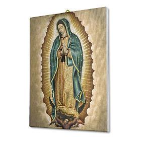 Quadro su tela pittorica Madonna di Guadalupe 25x20 cm s2