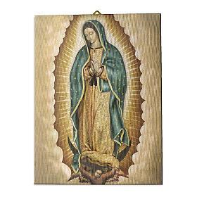 Quadro tela pictórica Nossa Senhora de Guadalupe 25x20 cm s1