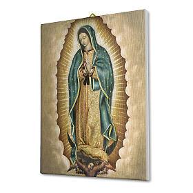 Quadro tela pictórica Nossa Senhora de Guadalupe 40x30 cm s2