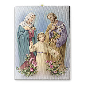 The Holy Family canvas print 25x20 cm s1