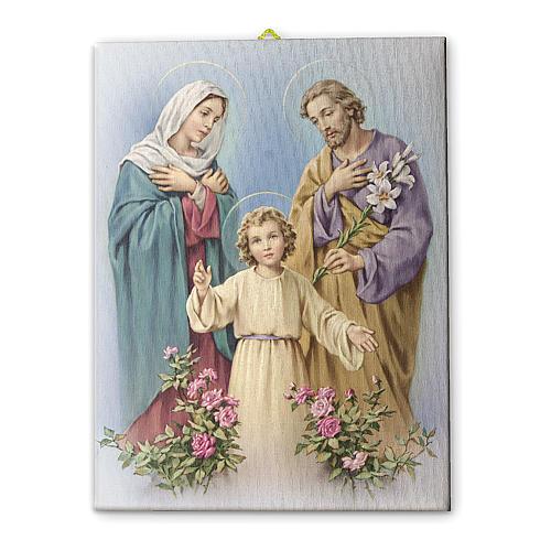 The Holy Family canvas print 25x20 cm 1