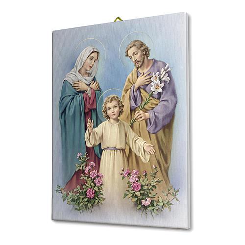 The Holy Family canvas print 25x20 cm 2