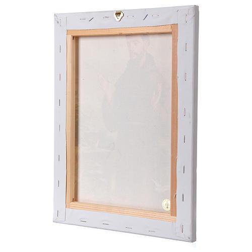 Cuadro sobre tela pictórica San Francisco de Asís 40x30 cm 3