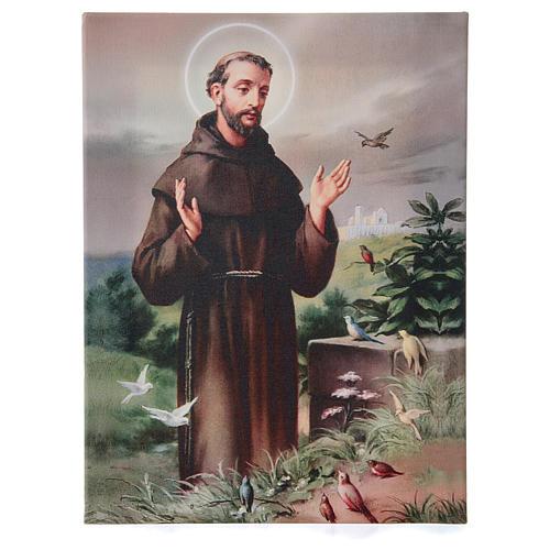 Quadro su tela pittorica San Francesco d'Assisi 40x30 cm 1