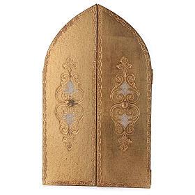 Trittico foglia oro Maria con Gesù e Angeli  s3