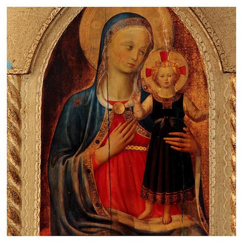 Trittico foglia oro Maria con Gesù e Angeli  2