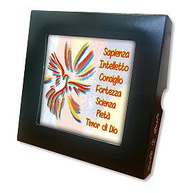 Baldosa cerámica impresa Espíritu Santo y Dones 10x10 cm s2