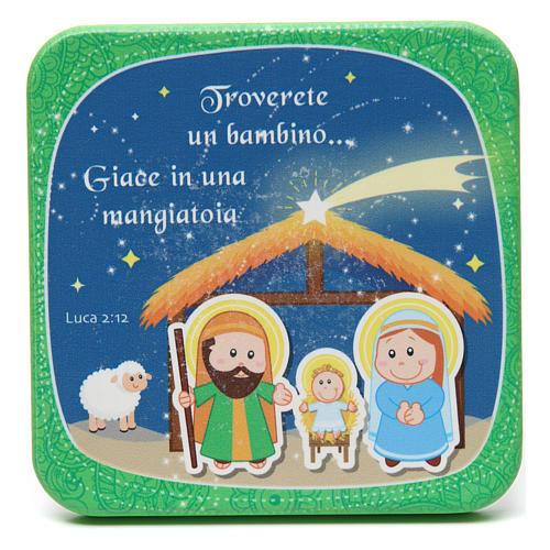 Cuadrito de madera Feliz Navidad Verde 1