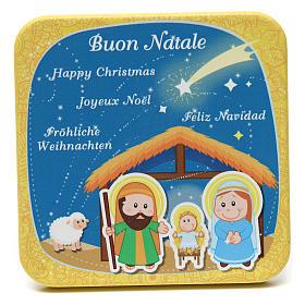Quadretto in legno Buon Natale Giallo s1